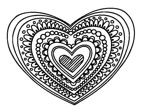 Dibujos De Corazones Coloridos: Corazones Tiernos De Amor Para Colorear E Imprimir