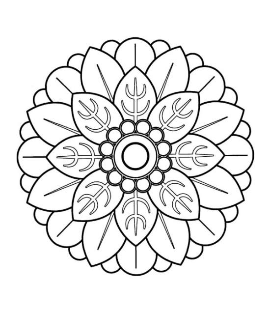 Imágenes de mandalas en blanco y negro para imprimir