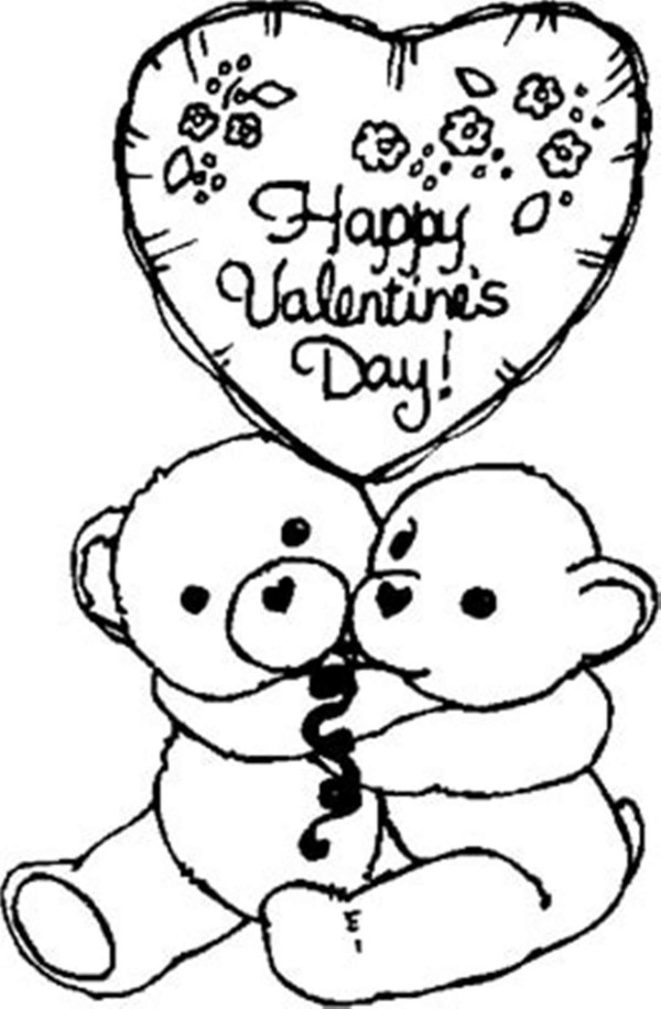 online valentine coloring pages - photo#13