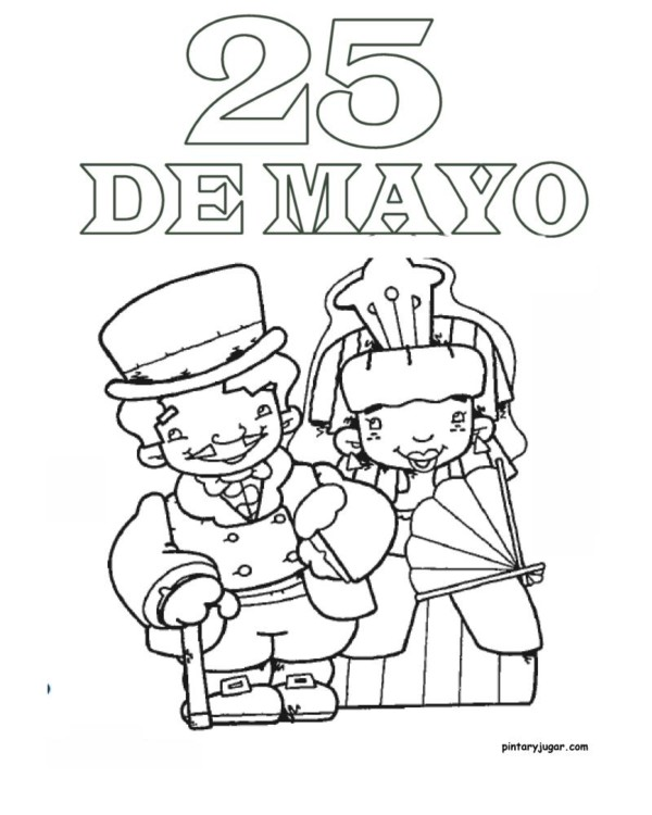 Imágenes Del 25 De Mayo Para Niños Para Pintar Colorear E Imprimir
