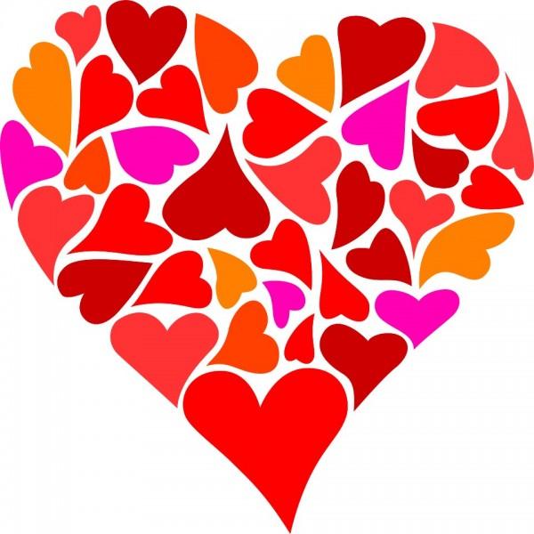 Corazón de Amor con frases de amor romanticas para San ...