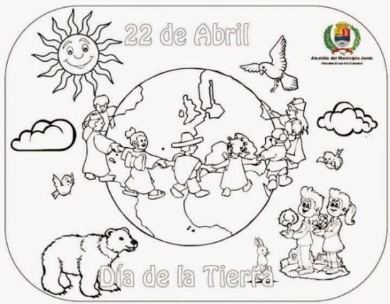 Día de la Tierra para colorear  (7)