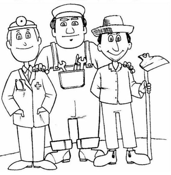 Día del Trabajador para Colorear (8)