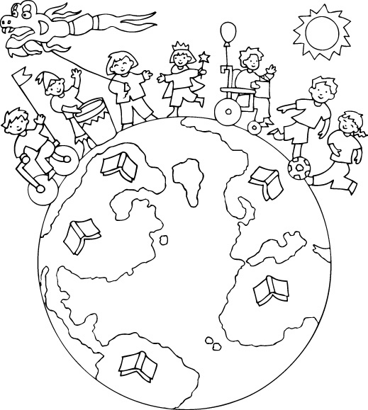 Im genes infantiles para educar colorear e imprimir en el for Avere una casa costruita sulla terra
