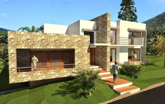 Hermosas fachadas de casas modernas y simples (20)