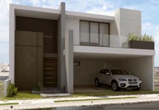 Hermosas fachadas de casas modernas y simples (22)