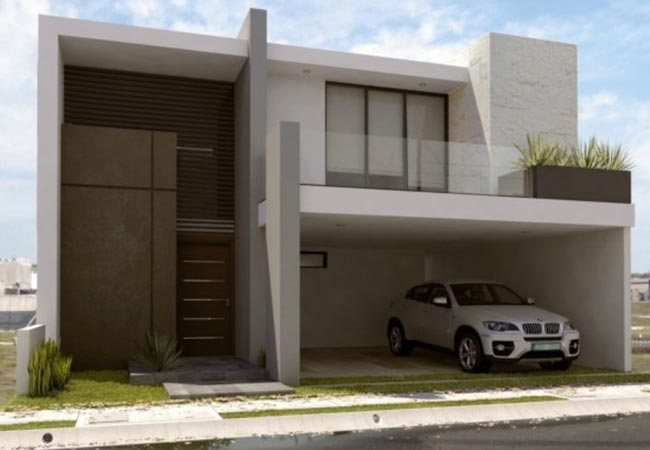 160 im genes de fachadas de casas modernas minimalistas y for Fachadas de casas con terraza
