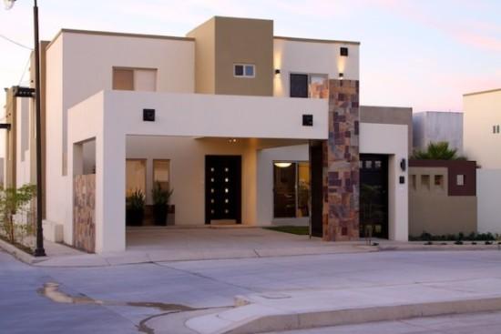 Hermosas fachadas de casas modernas y simples (23)