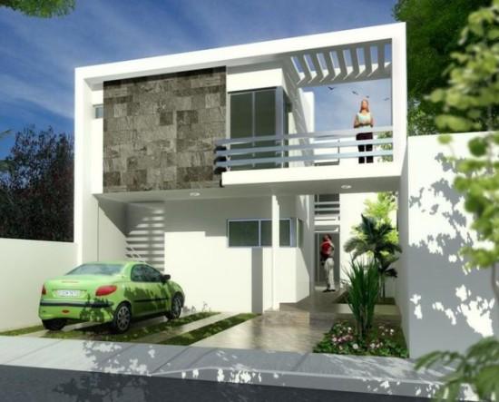Hermosas fachadas de casas modernas y simples (8)