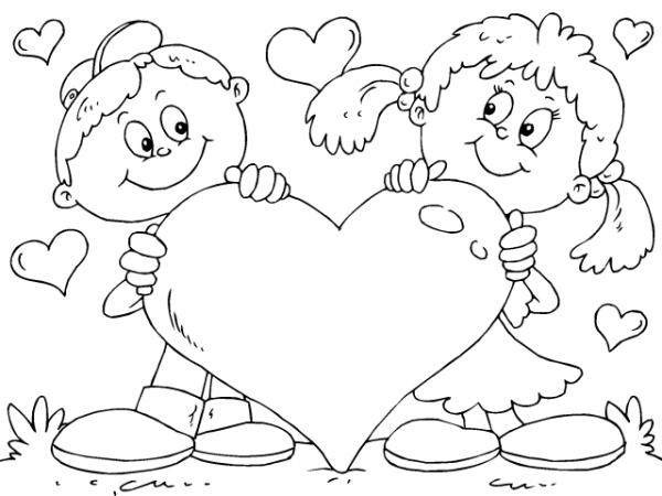 Imágenes-de-Niños-Enamorados-para-Colorear-12