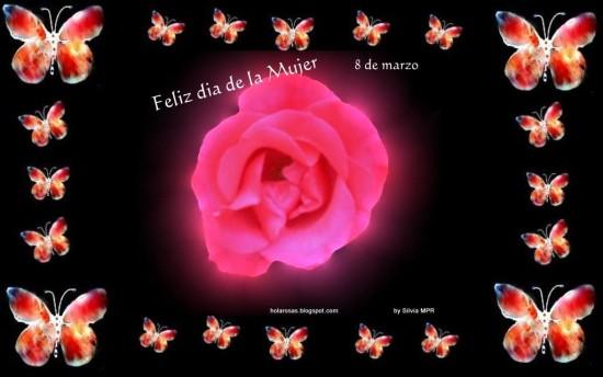 Lindas Flores de Felíz Día de la Mujer con Mensajes (4)