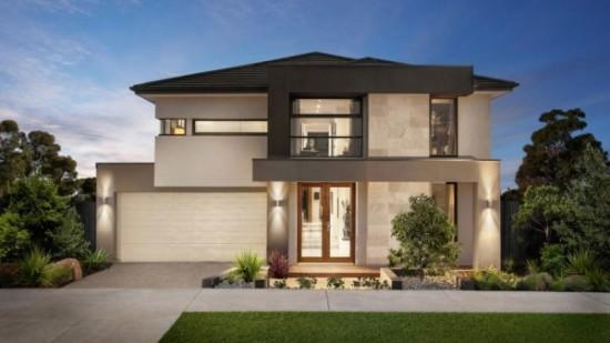 Moderna-fachada-de-dos-pisos