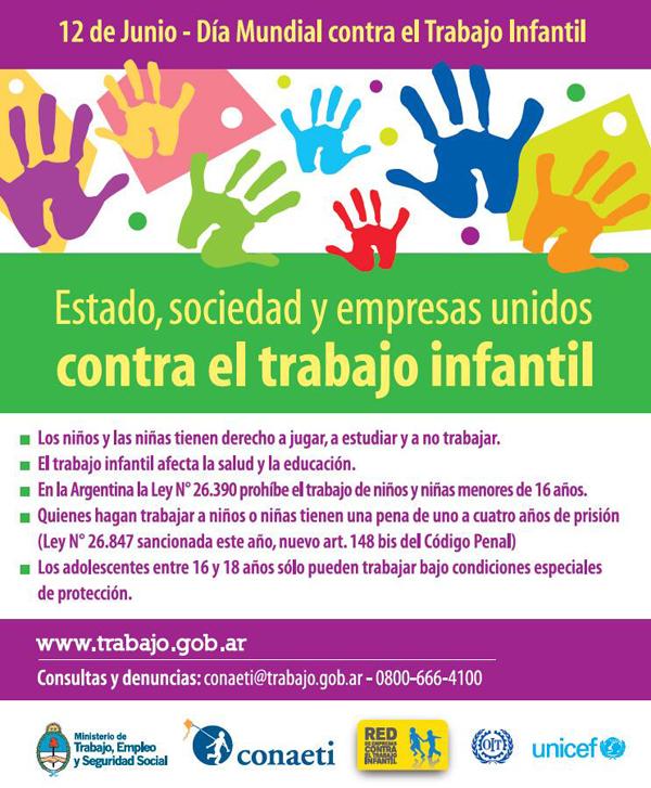 Prevenir Y Erradicar El Trabajo Infantil 12 De Junio Día
