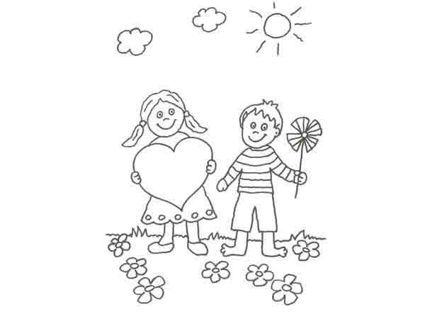 Imágenes De Felíz Día Del Amigo Para Colorear Imprimir Y Regalar