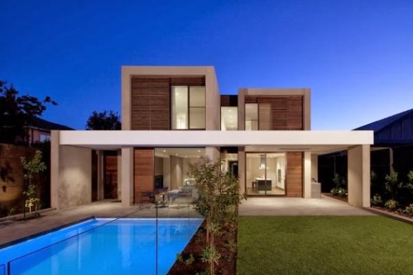 160 im genes de fachadas de casas modernas minimalistas y for Casa minimalista 2018