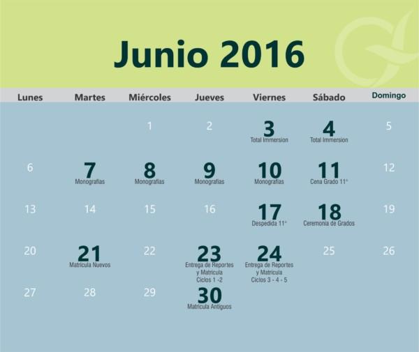 im u00e1genes de calendarios mes de junio 2016 para descargar e