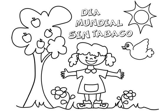 Imágenes Para Niños Del Día Sin Tabaco Con Dibujos Para Colorear