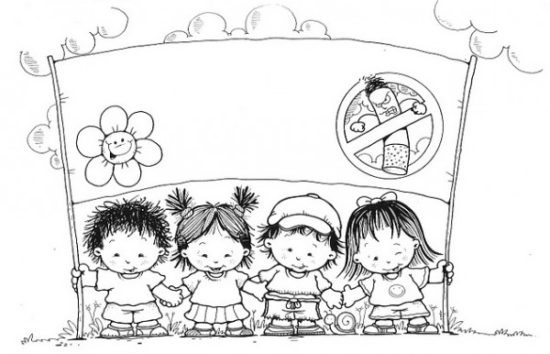 Dibujos De Colegios Para Colorear E Imprimir: Imágenes Del Día Mundial Sin Tabaco Para Colorear, Pintar