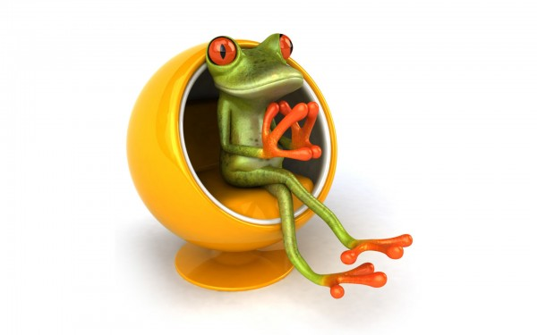 3D-Frog-On-Yellow-Chair-1920x1200