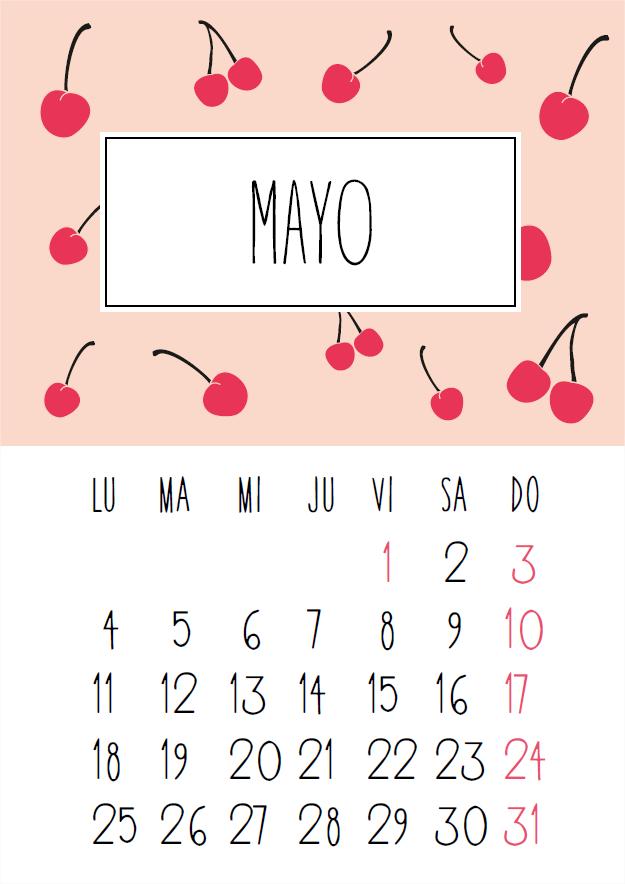 im225genes de calendarios mes de mayo 2016 para imprimir