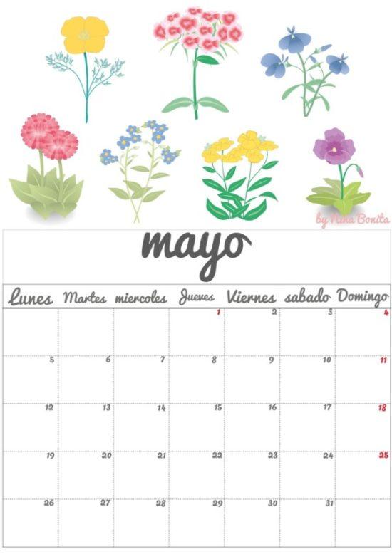 im u00e1genes de calendarios mes de mayo 2016 para imprimir