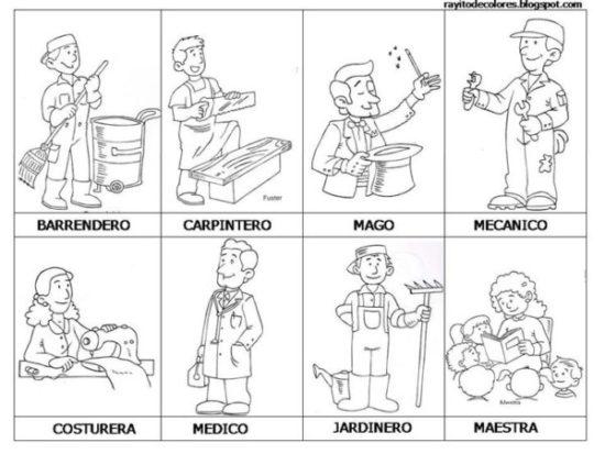 Dibujos de Oficios de Trabajo (1)