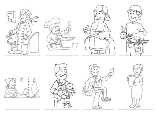 Dibujos de Oficios de Trabajo (2)