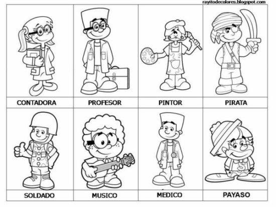 Dibujos de Oficios de Trabajo (4)