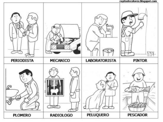 Dibujos de Oficios de Trabajo (6)