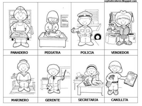 Imágenes de Oficios de Trabajo para colorear el Día del Trabajador ...