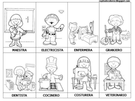 Dibujos de Oficios de Trabajo (8)
