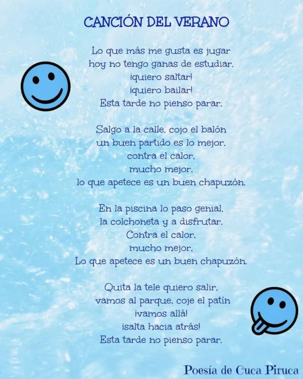 Poemas infantiles de Otoño y Verano para Niños en imágenes