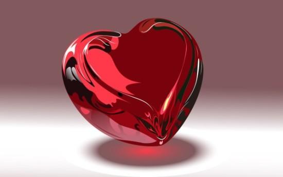 Wallpaper 3D de corazones  (1)
