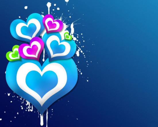 Wallpaper 3D de corazones  (11)