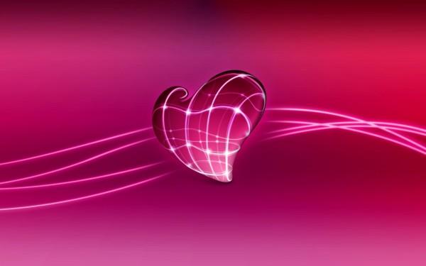 Wallpaper 3D de corazones 2