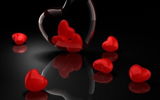Wallpaper 3D de corazones  (7)