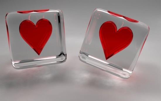Wallpaper 3D de corazones  (9)