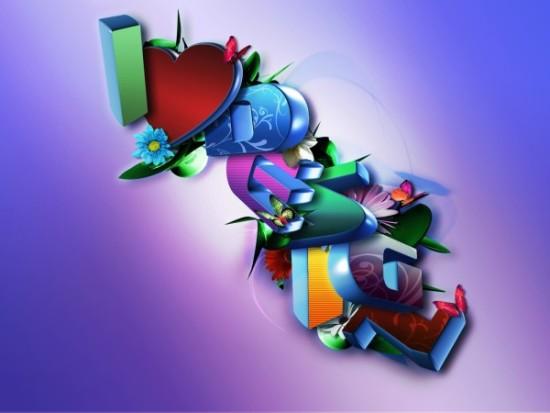 Wallpaper de Amor 3D  (2)
