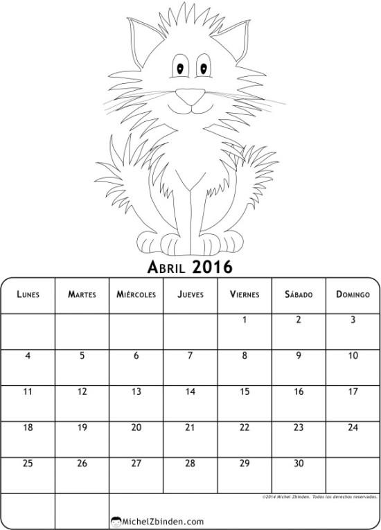 calendario abril 2016 para imprimir  (4)