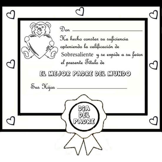 carteles y diplomas Dia del Padre para Colorear (13)