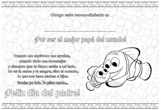 carteles y diplomas Dia del Padre para Colorear (3)