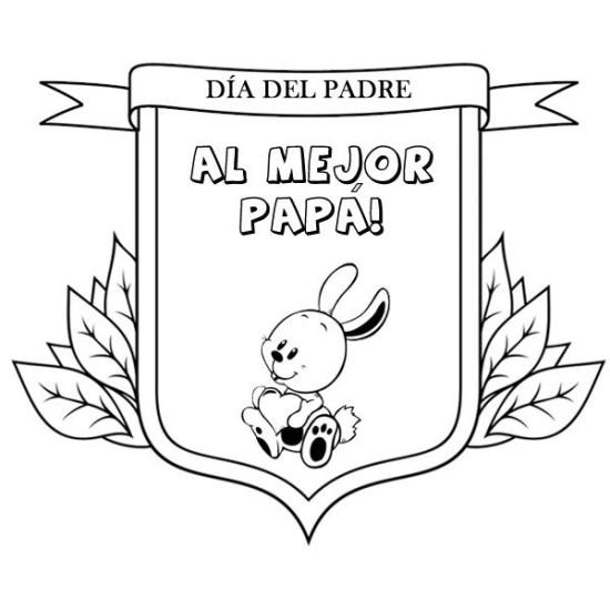 carteles y diplomas Dia del Padre para Colorear (4)