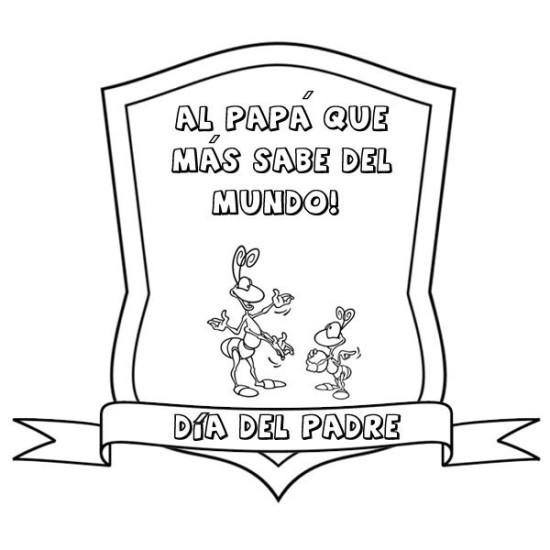 carteles y diplomas Dia del Padre para Colorear (6)