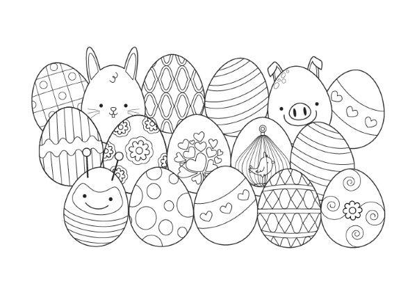Originales Huevos Y Conejos De Pascua Para Imprimir Y