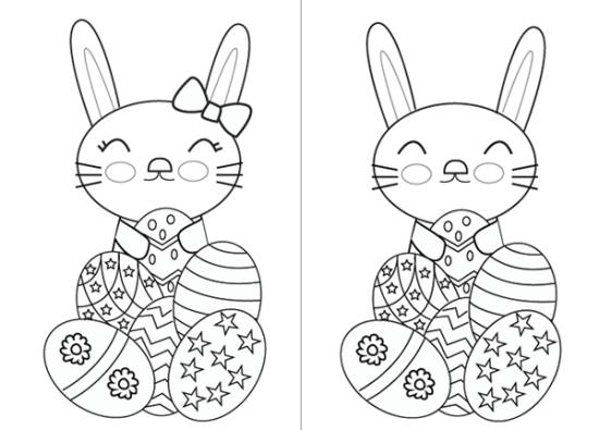 conejos y huevos para colorear Pascuas (2)