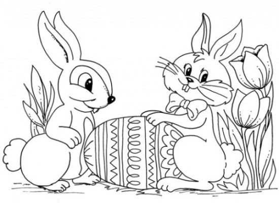 conejos y huevos para colorear Pascuas (4)
