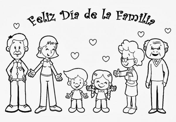 Imágenes del Día de la Familia para pintar, colorear e imprimir el ...