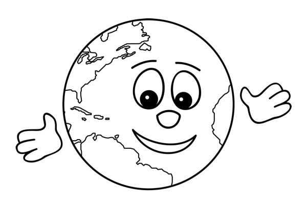 Imágenes del Día de la Tierra para pintar y colorear e imprimir el