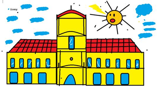 dibujo del Cabildo  - revolución de mayo  (1)