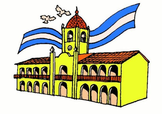 dibujo del Cabildo  - revolución de mayo  (3)